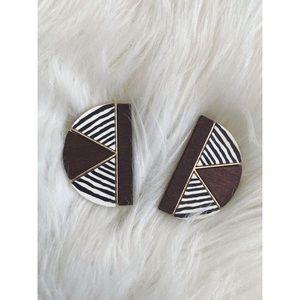 Vintage zebra earrings